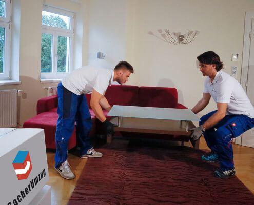 Möbel ab- und wieder aufbauen kinderleicht mit Sacher Umzug