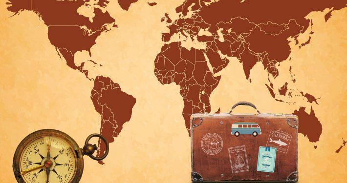 Auslandsumzug - Weltkarte