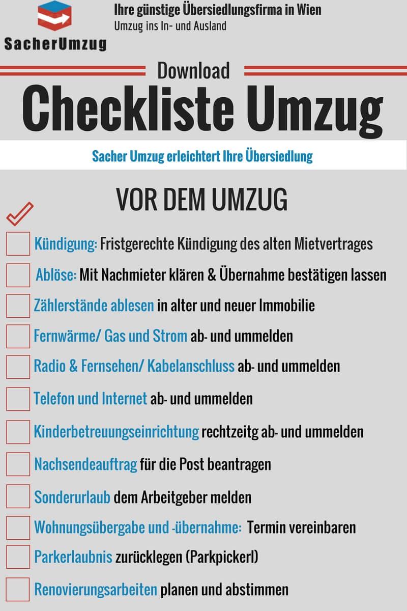 Free Download: Checkliste für Ihren Umzug - vor dem Umzug